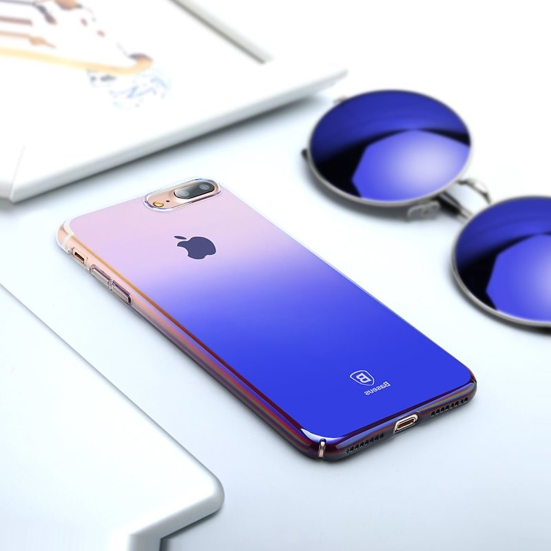 Baseus чехол для iPhone X 8 7 6 6s s Plus Ultra Slim градиент жесткая задняя панель из поликарбоната для iPhone 8 Plus 7 Plus 6 Plus Coque Fundas