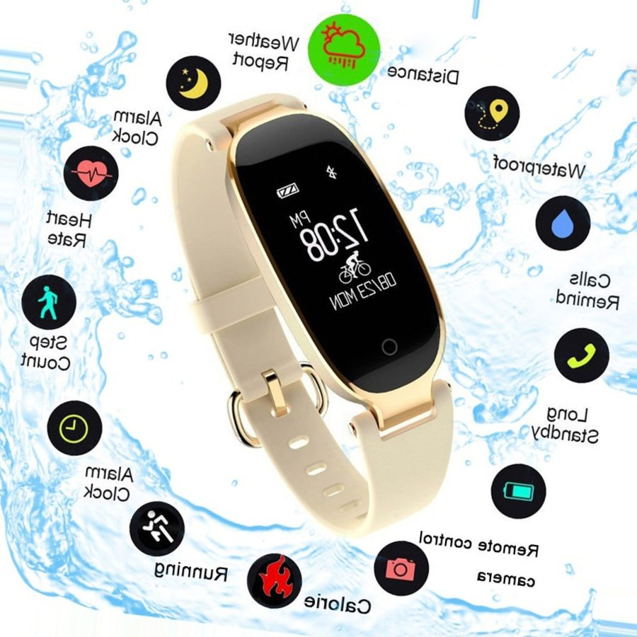 SCOMAS 2018 модные часы Smart Watch Heart Rate Monitor Цвет Экран Для Женщин Bluetooth Smartwatch для iOS Android Relogio Inteligente